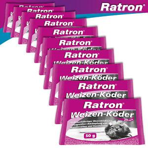 Frunol Delicia 10 x 50 g Ratron® Weizenköder 29 ppm Rattengift Giftköder