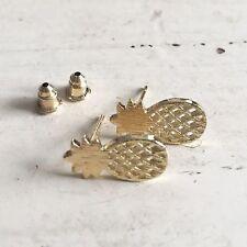 Chunky Kitsch Gold Pineapple Earrings - SweetPea Studio - Great Jewellery Gift!