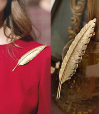 Retro Gold Leaf Brooch Long Section Of A Large Maple Leaf Brooch Pin Collar
