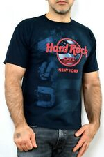HARD ROCK CAFE NEW YORK US  Vintage 90s Black Red T SHIRT AUth M Very Good