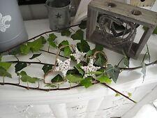 5cm Weidenstern Holzhänger Hänger Stern Holzanhänger Anhänger shabby chic weiß