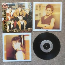 """Take That """"It Only Takes A Minute"""" 7 Inch Ex. With Ltd Postcards. Robbie & Mark"""