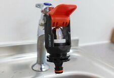 More details for kitchen tap connector to garden hose adaptor, hozelock compatible - orange