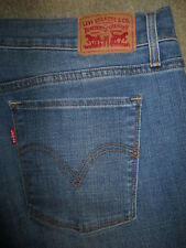 LEVIS 515 Boot Cut Stretch Medium Light Blue Denim Jeans Womens Size 14  x 29.5