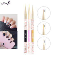 Nail art liner brush`ultra-thin line drawing pen rhinestone manicure salonFLA
