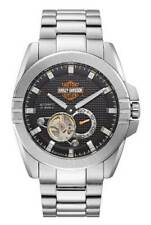 Harley-Davidson Men's Automatic Throttle Stainless Steel Watch, Silver 76A166