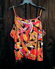 TROPICAL SOFT SMOOTH SLINKY STRETCHY KNIT CAMI CAMISOLE SHELL TANK TOP~4X~NEW