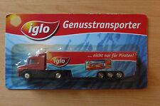 Modellino autocarro per birra Rimorchio trasporto SCANIA 124L 400 IGLO HS 11