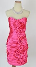 Terani Fuchsia Size 4 Short Gown Prom Formal Evening Dress New $300 Knee Length