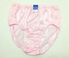 Vintage Pin Up Sheer Nylon Lace Panties Mutandine Sexy light Pink Big size 3XL