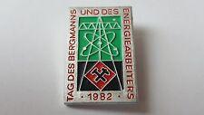 DDR Abzeichen - Tag des Bergmanns und des Energiearbeiters 1982 - DDR .