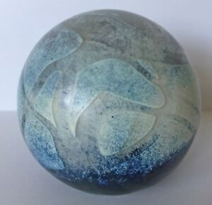 Signed Maltese Phoenician Glass Paperweight