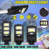 100/200/300COB LED LAMPIONE STRADALE PANNELLO SOLARE TELECOMANDO CREPUSCOLARE