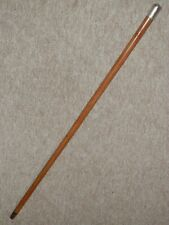 More details for antique military? nco drill cane w/ h/m silver pommel top london 1897 - 87cm