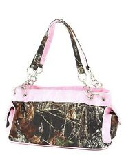 MOSSY OAK PINK & CAMOUFLAGE CAMO PURSE, HANDBAG LICENSED, TWO HANDLE