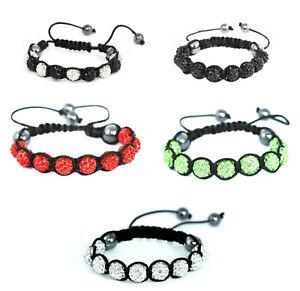 Shamballa Bracelet, handmade hematite beads, adjustable macrame, new colors