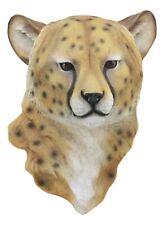 "Safari Lightning Cheetah Head Wall Decor 3D Plaque 16""Tall Taxidermy Art Decor"