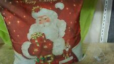 Santa Merry Christmas! Throw Pillow Cushion Holiday Home Decor