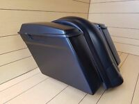 "4""EXTENDED BAGS,STANDARD LIDS AND PLAIN REAR MUDGUARD FOR HARLEY 1997-2013"