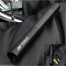 "TRD Black Real Carbon Fiber Short 4.7"" Inch Radio Antenna for Toyota Lexus Model"