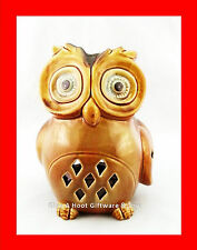 Ceramic Owl Tea Light Candle Holder T-Light Tealight Glazed (C280A)