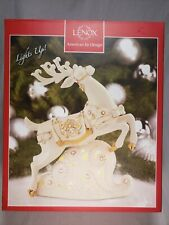Lenox Porcelain Florentine And Pearl Lit Figurine W/24K Gold Accents Ltd Reindee