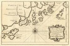 Pearl River Delta. Macao Lantau Chuanshan Wanshan Islas Zhuhai N. Bellin 1748 Mapa