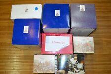 Lot of 8 Scrooge Christmas Tiny Tim David Winter Cottages Carol Original Boxes
