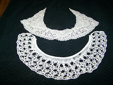 Lot of 2 antique lace vintage embroidered collars. Belgium or French Rbg style ?