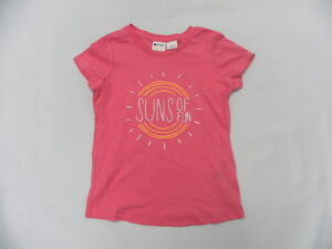 Roxy Suns Of Fun Pink Girls Teenie Wahine T-shirts Size 5