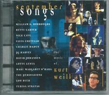 SEPTEMBER SONGS CD ELVIS COSTELLO NICK CAVE PJ HARVEY LOU REED CHARLIE HADEN