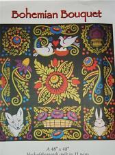 Bohemian Bouquet Susan Knapp Applique Folk Art Set 11 Quilt Patterns SALE