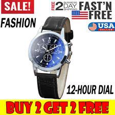 Fashion Men's Watch Faux Leather Belt Sport Quartz Hour Analog Wrist Watches