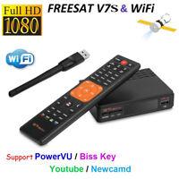 GTMEDIA V7S FTA 1080P DVB-S2 receptor de satélite HD Digital Key Decoder + WIFI