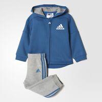 Adidas Niños Azul/gris Chandal Para Correr Traje Edades 0-4 AÑOS