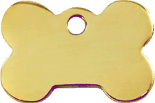 Red Dingo Dog ID, Pet Tag, Charm, Cat Personalized Engraved Brass Bone