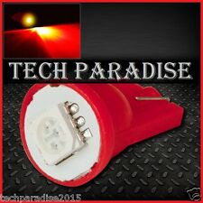 4x Ampoule T10 / W5W / W3W LED 1 SMD 5050 Rouge Red veilleuse lampe light 12V