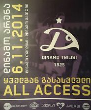 TICKET 2014/15 Dinamo Tbilisi-DINAMO Batumi