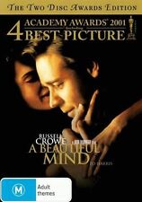 A Beautiful Mind (2 Disc Academy Awards) * NEW DVD * Russell Crowe Ron Howard