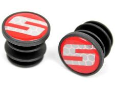 "SRAM ""S"" logo Supercork Handlebar Road Bicycle Drop Bar End Plugs Caps (1-Pair)"
