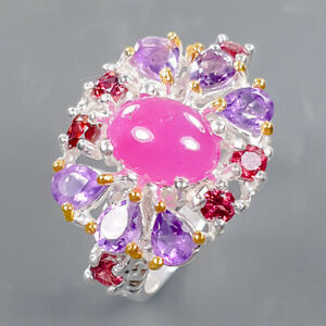 Jewelry Set Design Ruby Ring Silver 925 Sterling  Size 8.5 /R178683