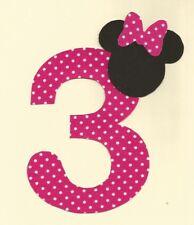 Minnie Mouse 3rd Birthday Iron on Applique