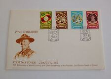 Zimbabwe 1982 large FDC 75th Ann. World Scouting & 125th Ann. Lord Baden-Powell