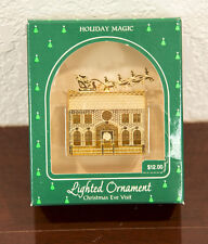 1985 Christmas Eve Visit Lighted Holiday Magic Hallmark Christmas Ornament Mib
