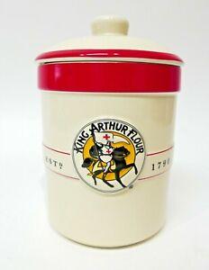 King Arthur Flour - Stoneware Canister - Sourdough Starter Crock, New 1 Qt.