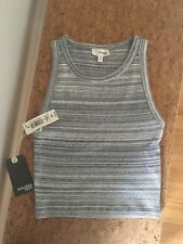 Wilfred Free Aritzia Ribbed Crop Tank Top, XS, Marled Gray