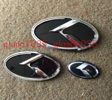 3D K Logo Grille + Trunk + Steering Wheel Emblem For KIA 2016 - 2018 Sorento UM