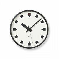 Lemnos Hibiya clock WR12-04 Analog White Dial from JAPAN