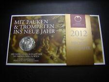 5 Euro Österreich Prosit 2012 mit Pauken und Trompeten  - Silber HGH   W/17/719