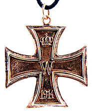Nr. 17 Eisernes Kreuz Iron Cross Anhänger Bronze 1914 & 1813 beidseitig tragbar